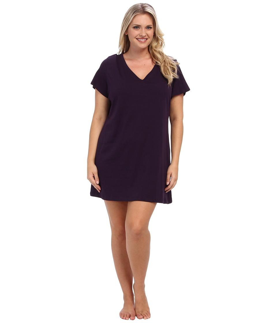Jockey - Jockey Cotton Essentials Plus Size Sleepshirt (Eggplant) Womens Pajama