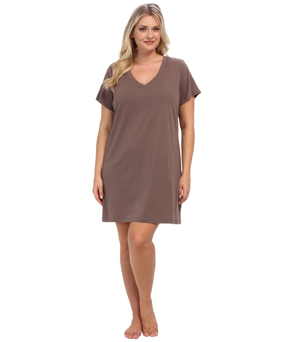 Jockey Jockey Cotton Essentials Plus Size Sleepshirt Taupe Womens Pajama