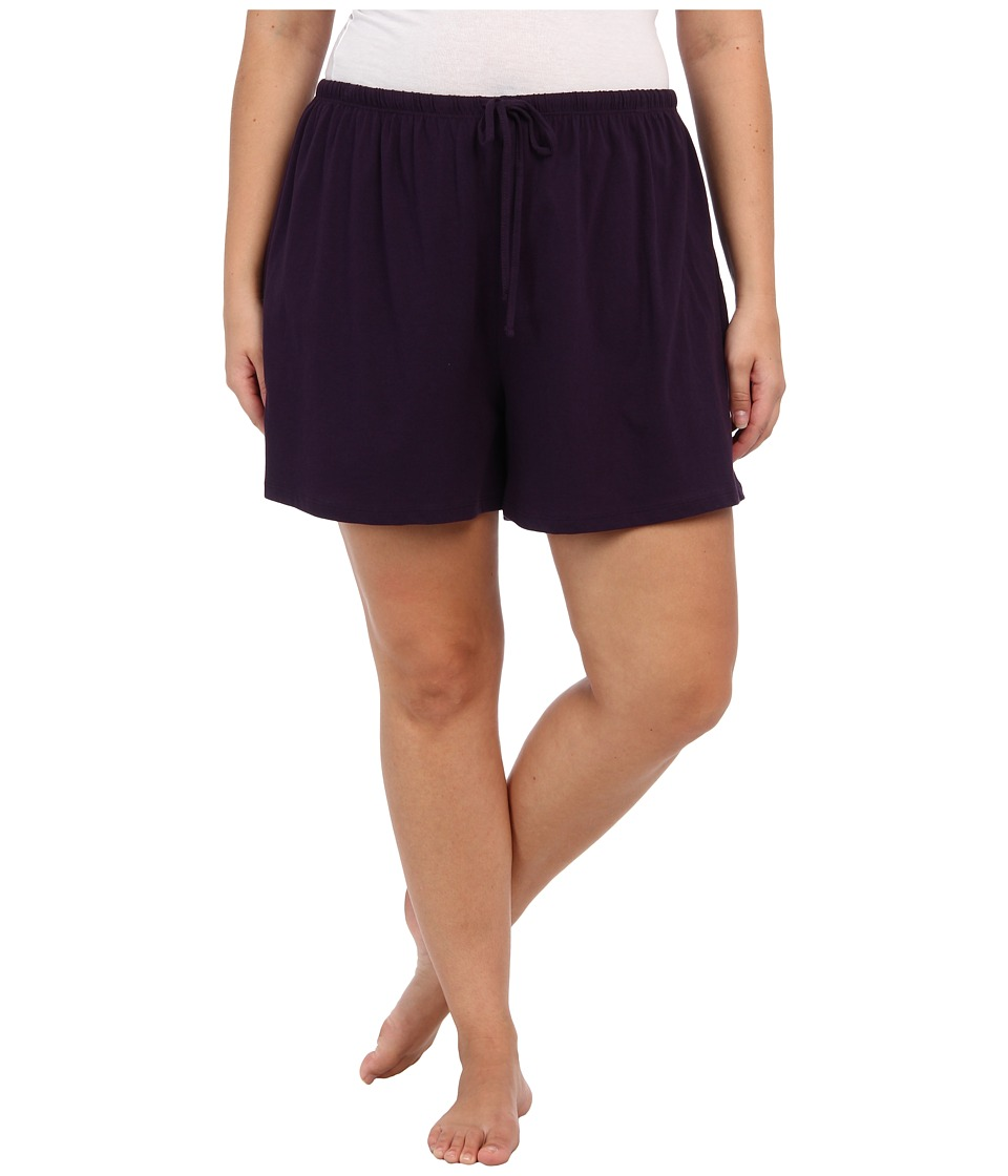 Jockey - Jockey Cotton Essentials Plus Size Boxer (Eggplant) Womens Pajama
