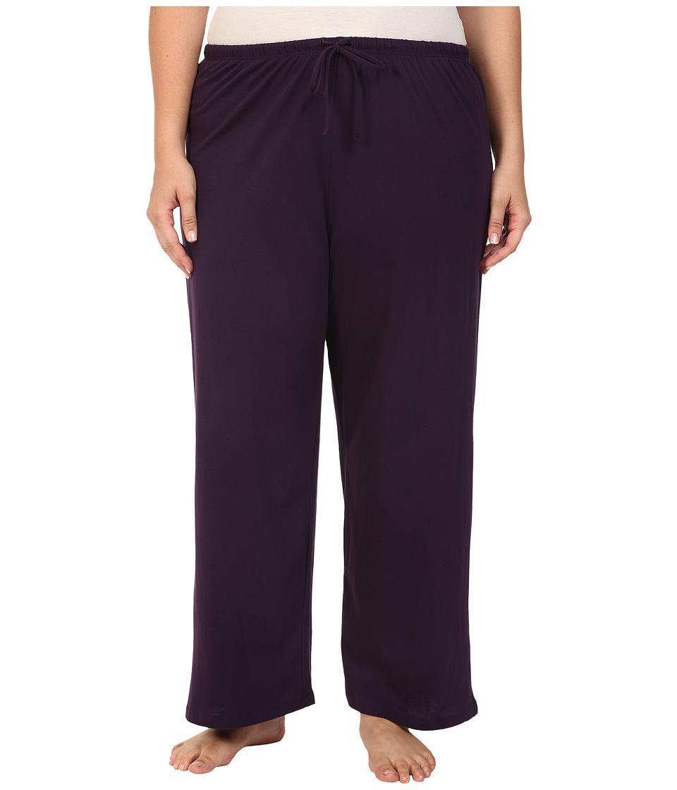 Jockey - Jockey Cotton Essentials Plus Size Long Pajama Pant (Eggplant) Womens Pajama
