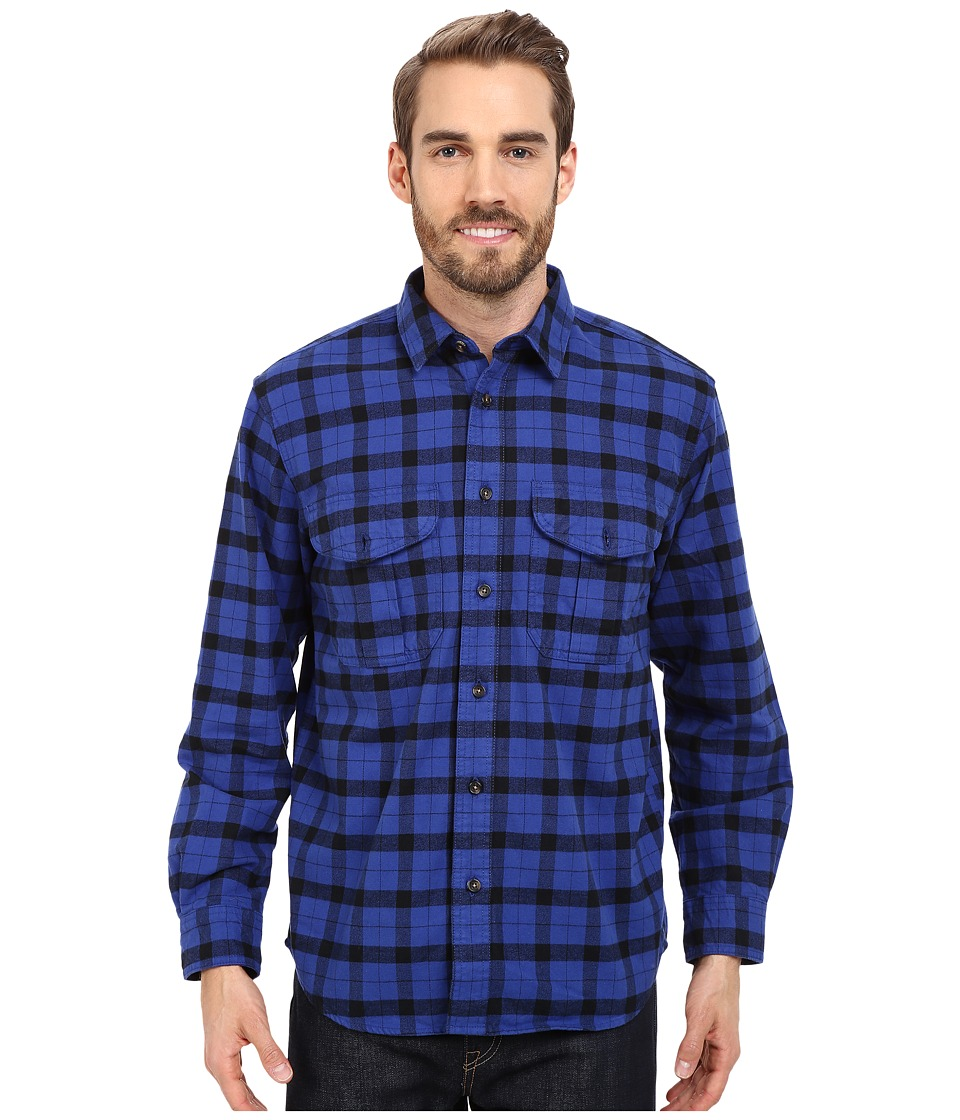 Filson Alaskan Guide Shirt Blue/Black Mens Long Sleeve Button Up