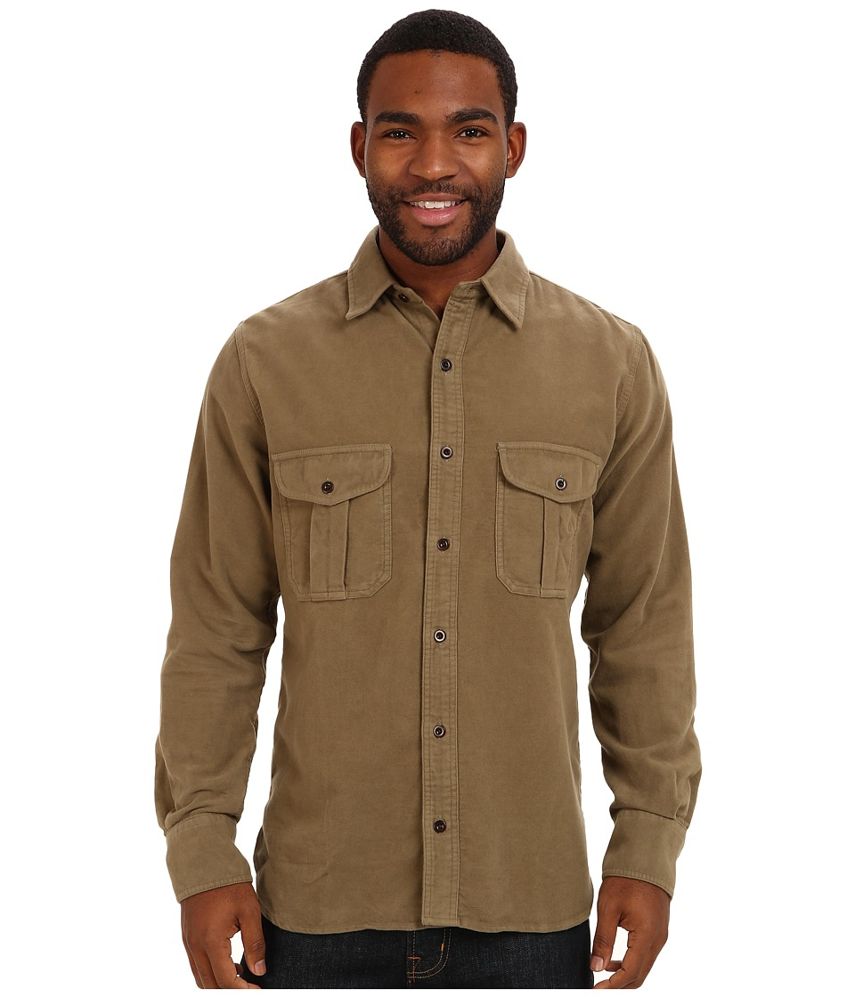 Filson Moleskin Seattle Shirt (Lovat) Men's Long Sleeve B...