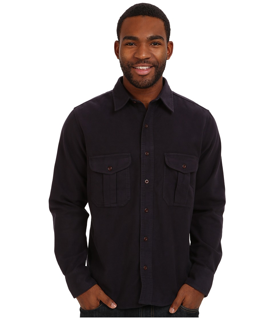 Filson Moleskin Seattle Shirt Navy Mens Long Sleeve Button Up