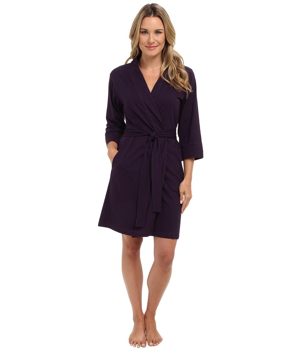 Jockey - Jockey Cotton Essentials Robe (Eggplant) Womens Robe