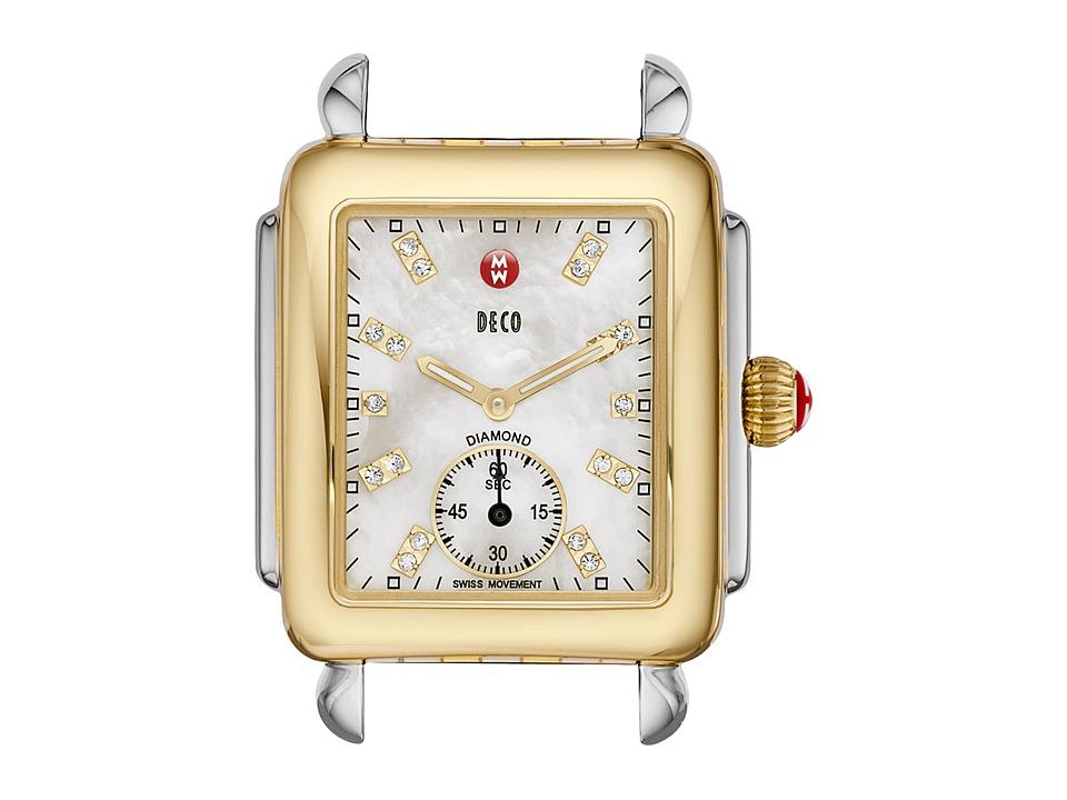Michele Deco 16 Two Tone Diamond Dial Silver/Gold Watch Head Two Tone Silver/Gold Analog Watches