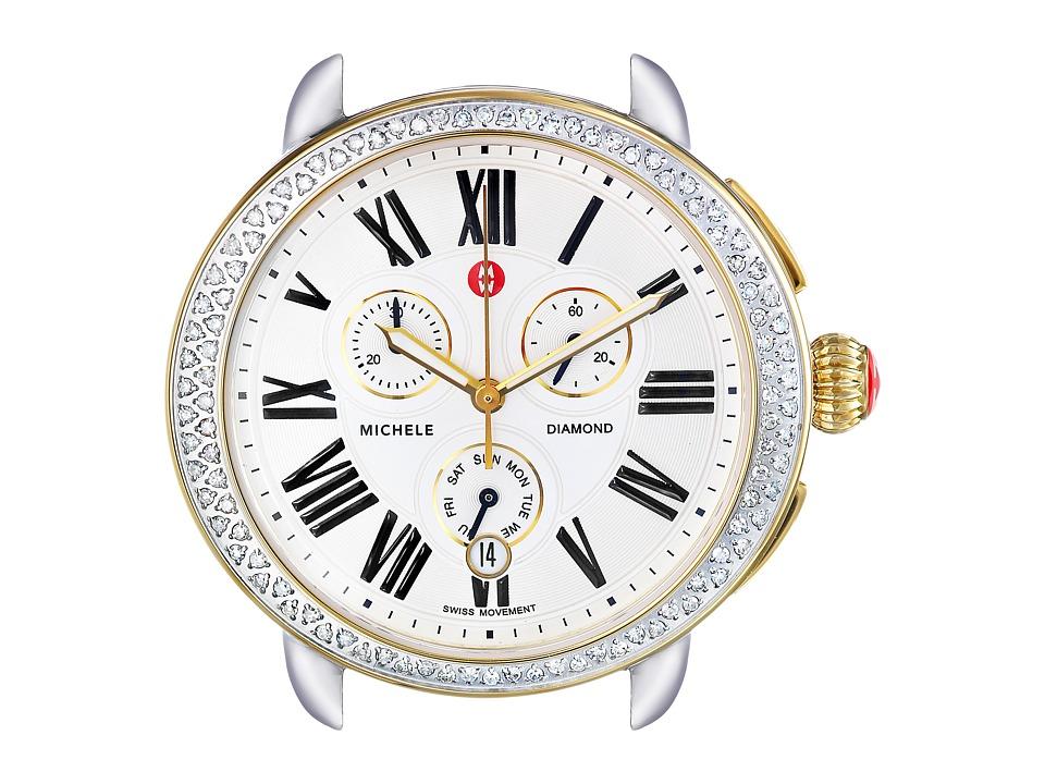 Michele Serein Diamond Two Tone Silver/Gold Watch Head Two Tone Silver/Gold Watches