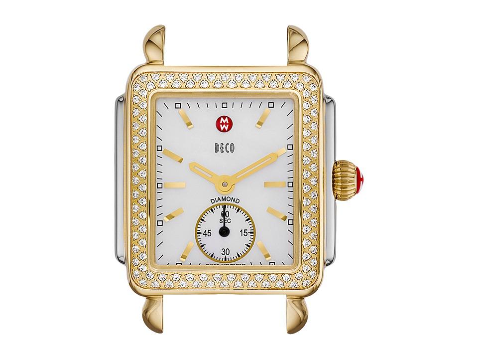 Michele Watches Deco 16 Diamond Two-Tone Silver/Gold Watc...