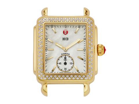 Michele Deco 16 Diamond Gold Watch Head - Gold