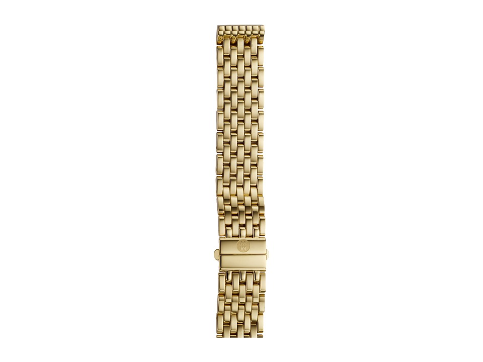 Michele 16mm Deco 16 Gold 7 Link Bracelet Gold Watches