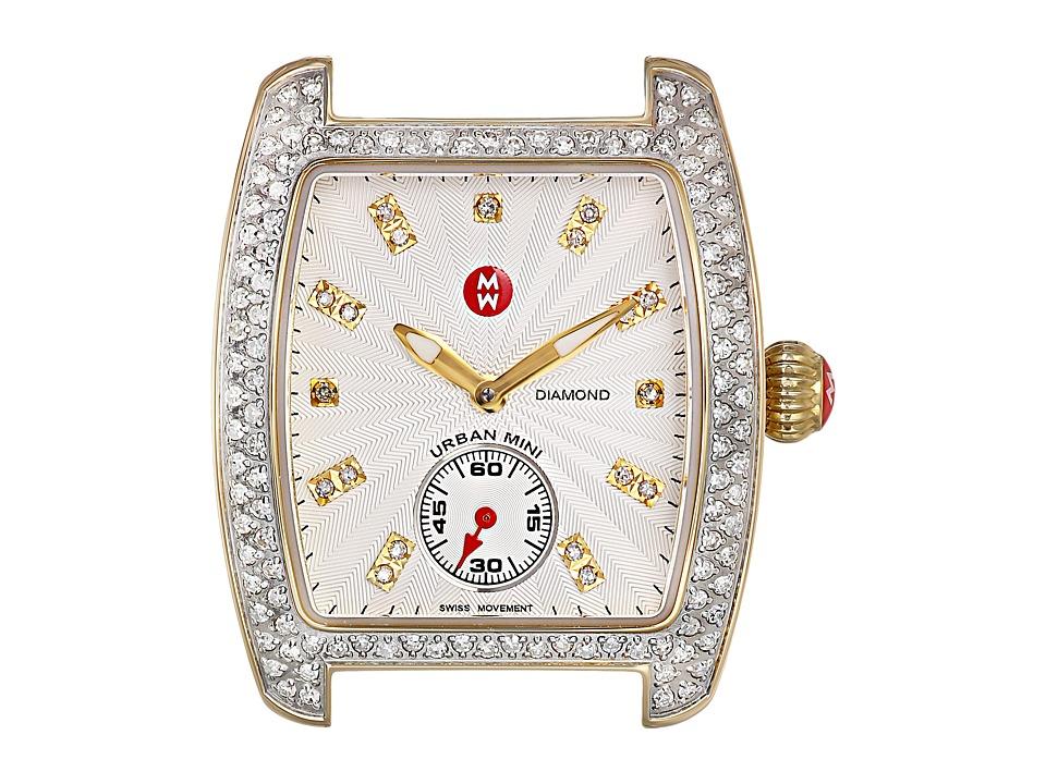 Michele Urban Mini Diamond Two Tone Diamond Dial Silver/Gold Watch Head Two Tone Silver/Gold Watches