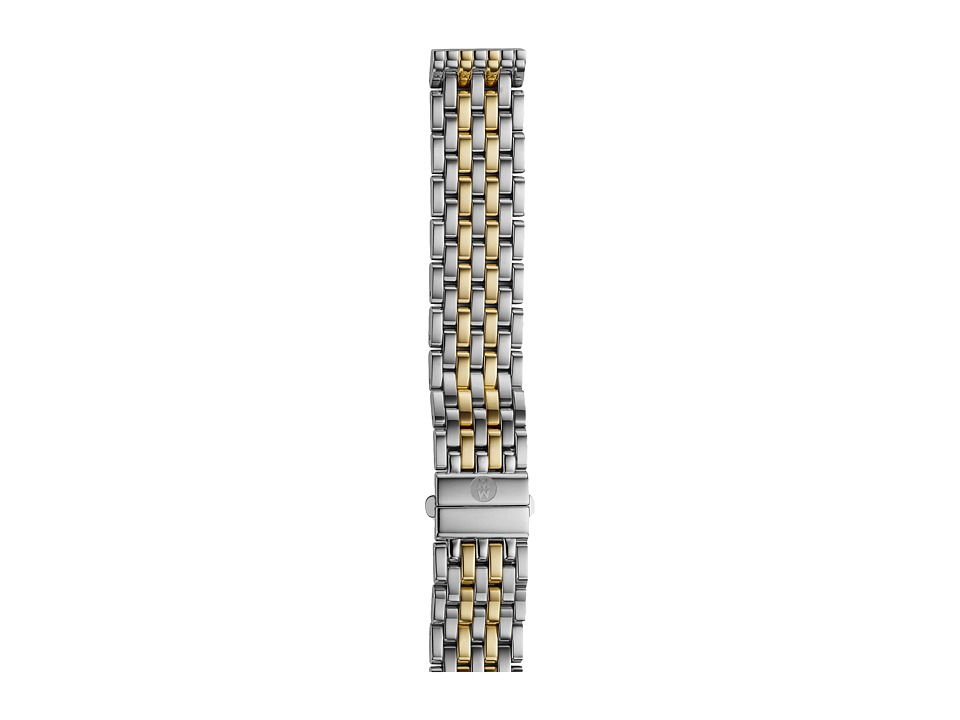 Michele - 16mm Deco 16 Two-Tone 7-Link Bracelet Silver/Gold (Two-Tone Silver/Gold) Watches