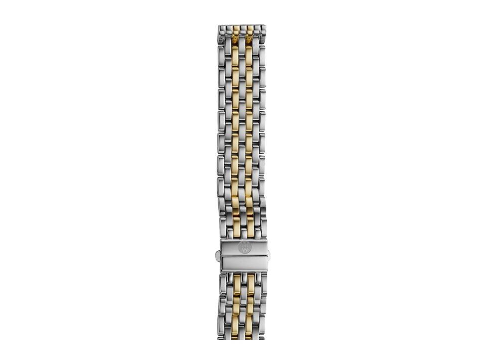 Michele - 16mm Deco 16 Two-Tone 7-Link Bracelet Silver/Gold