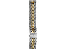 Michele 16mm Deco 16 Two-Tone 7-Link Bracelet Silver/Gold