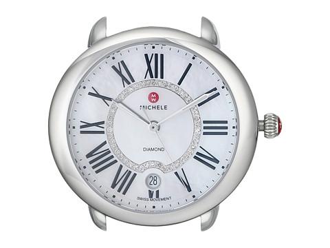 Michele Serein 16, Diamond Dial Silver/Steel Watch Head - Silver/Steel