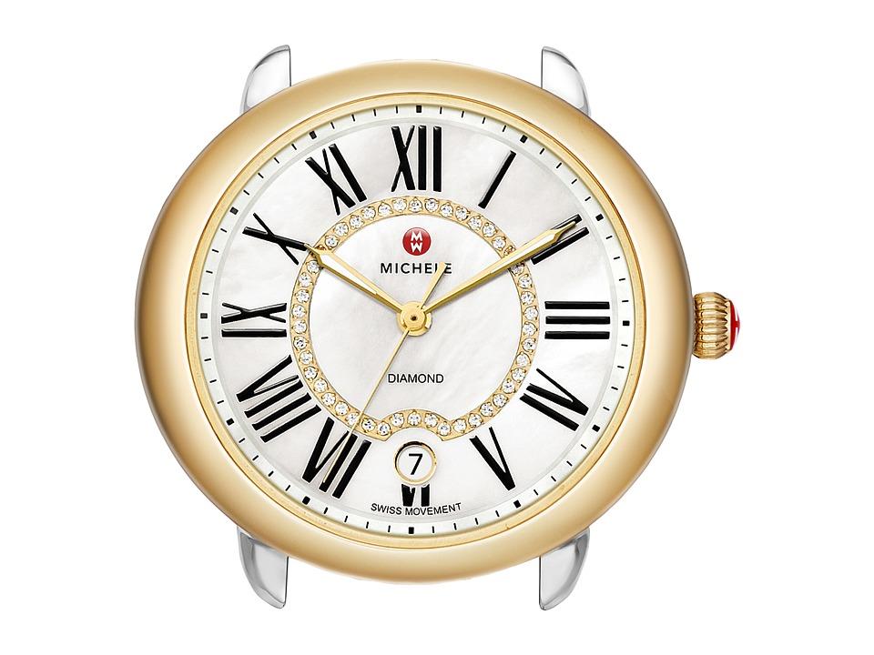 Michele 16 Two Tone Diamond Dial Silver/Gold Watch Head Two Tone Silver/Gold Watches