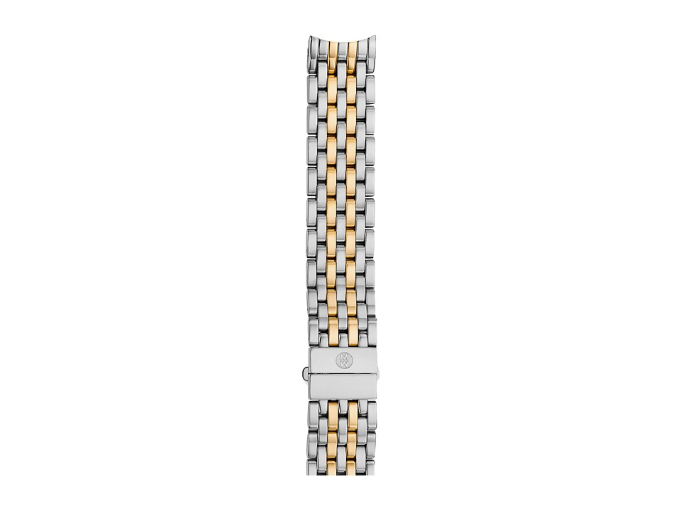 Michele - 16mm Serein 16 Two-Tone 7-Link Bracelet Silver/Gold