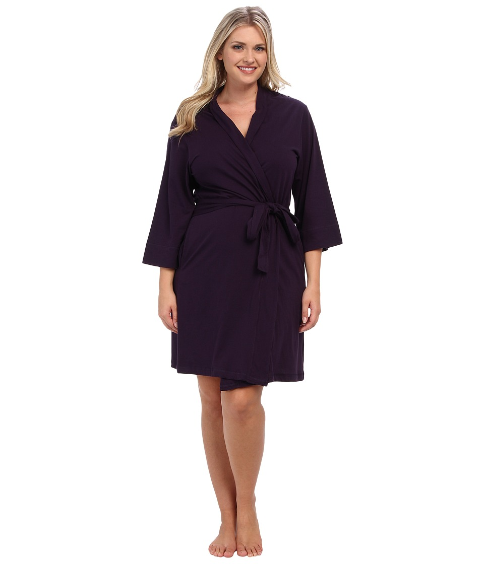 Jockey Jockey Cotton Essentials Plus Size Robe Eggplant Womens Robe