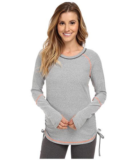 Lucy - Dashing Stripes L/S Top (Fossil Stripe/Papaya/Papaya) Women's T Shirt