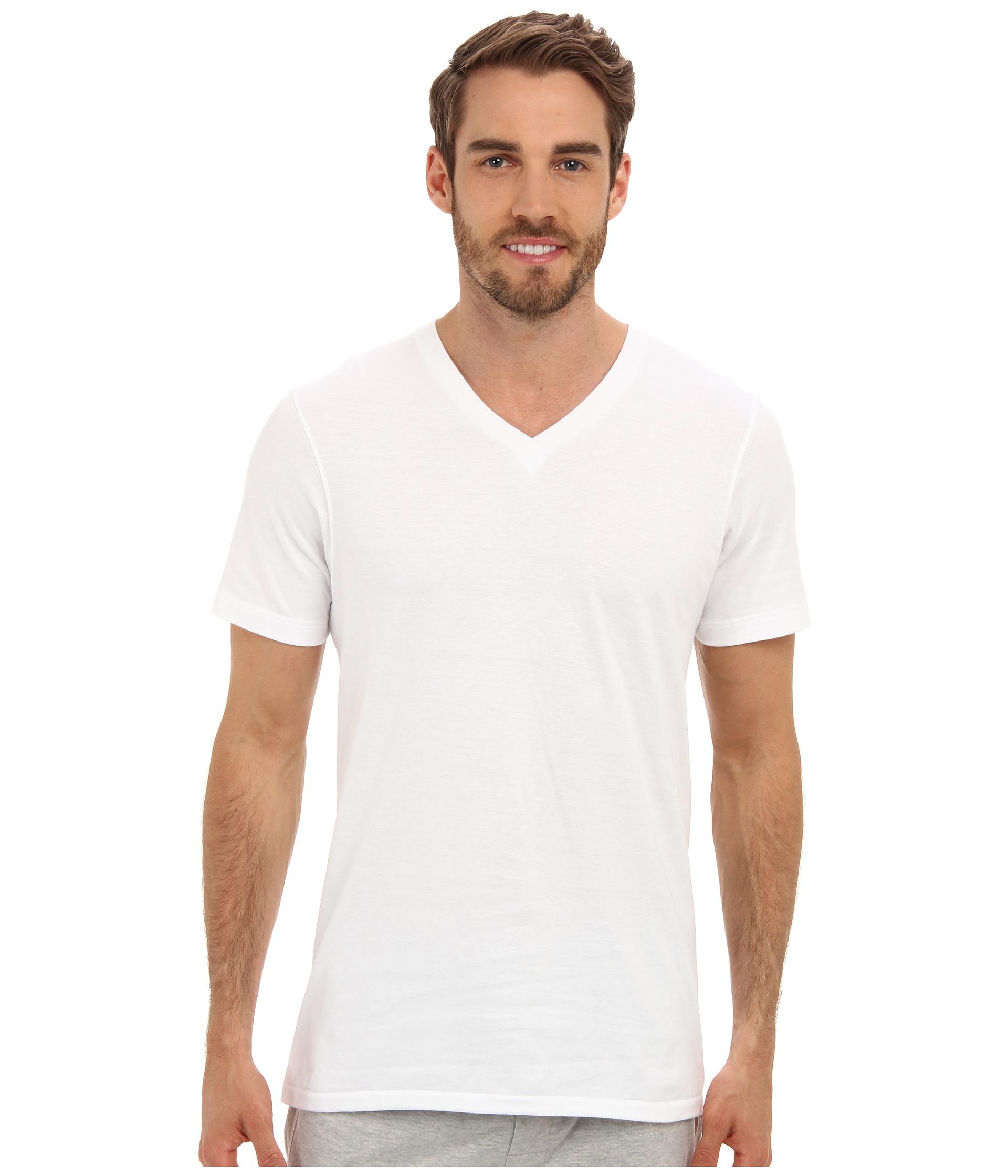 Jockey cotton v neck t shirt 3 pack at for Jockey v neck shirt
