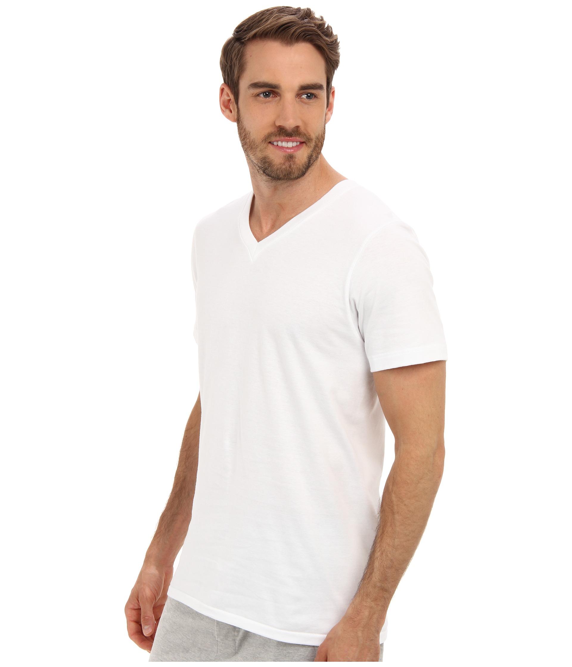 Jockey cotton v neck t shirt 3 pack at for Jockey t shirts sale