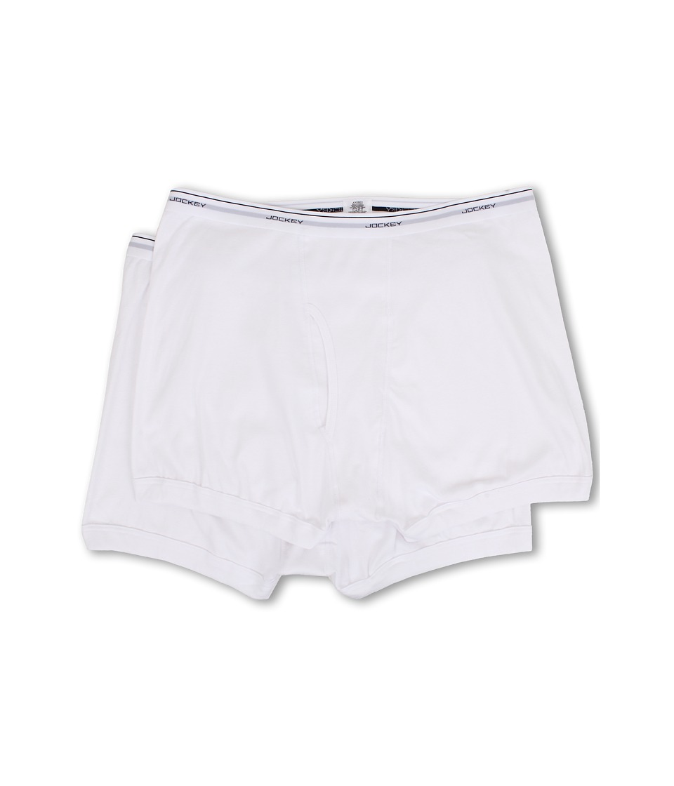 Jockey Big Man Cotton Boxer Brief 2 Pack White Mens Underwear