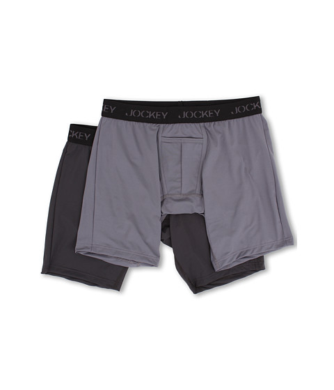 Jockey Microfiber Performance Midway® Brief 2-Pack - Grey Smoke