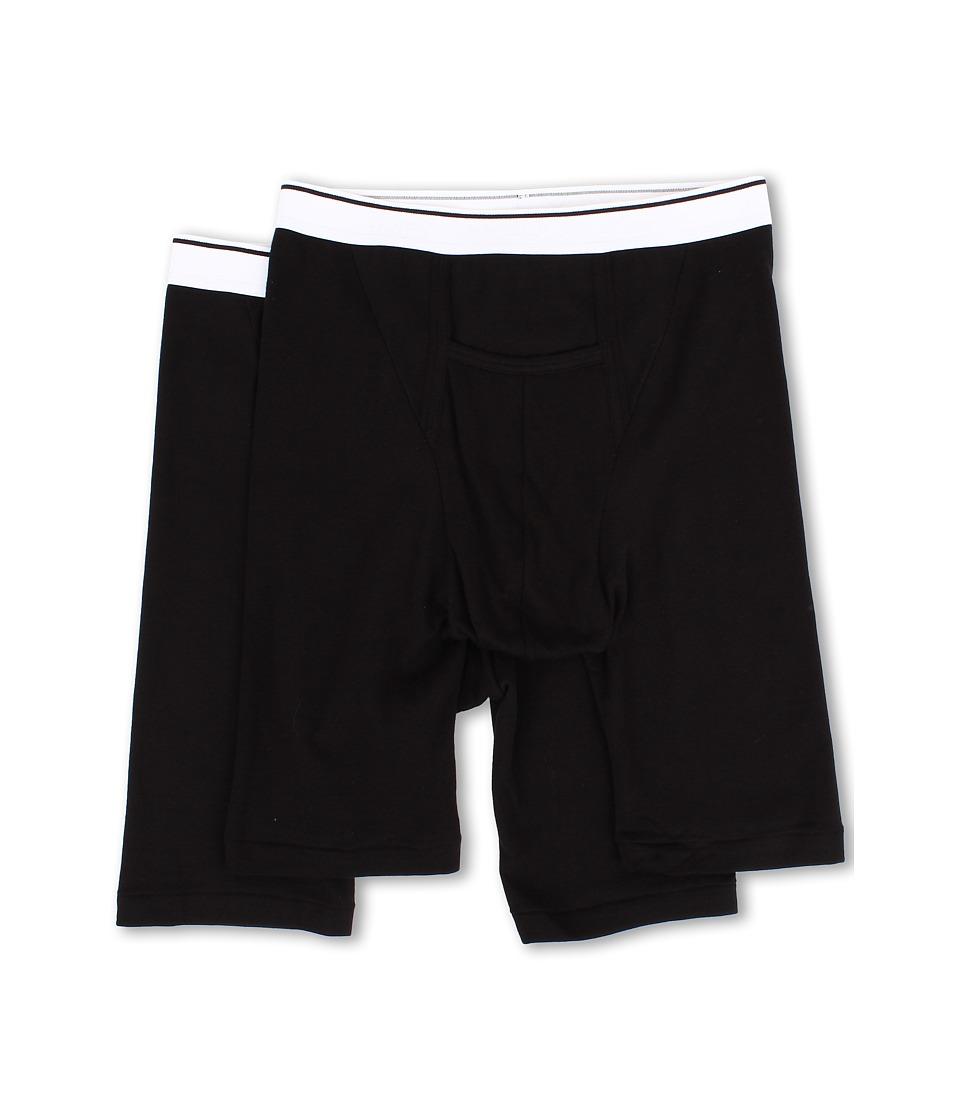 Jockey Pouch Athletic Midway Brief 2 Pack Black Mens Underwear