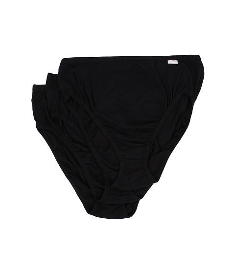 Jockey Plus Size Elance® French Cut 3-Pack - Black/Black/Black