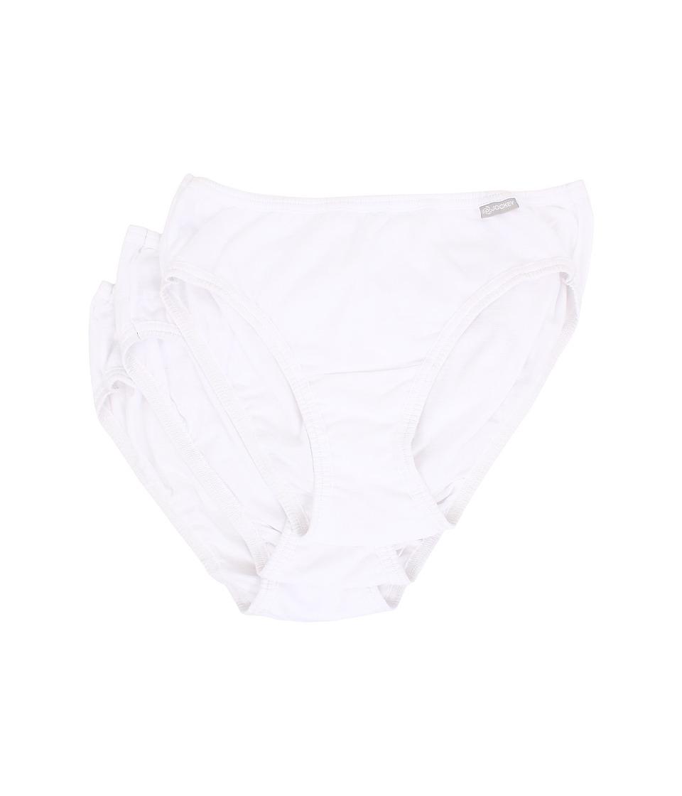 Jockey Elance Bikini 3 Pack White/White/White Womens Underwear