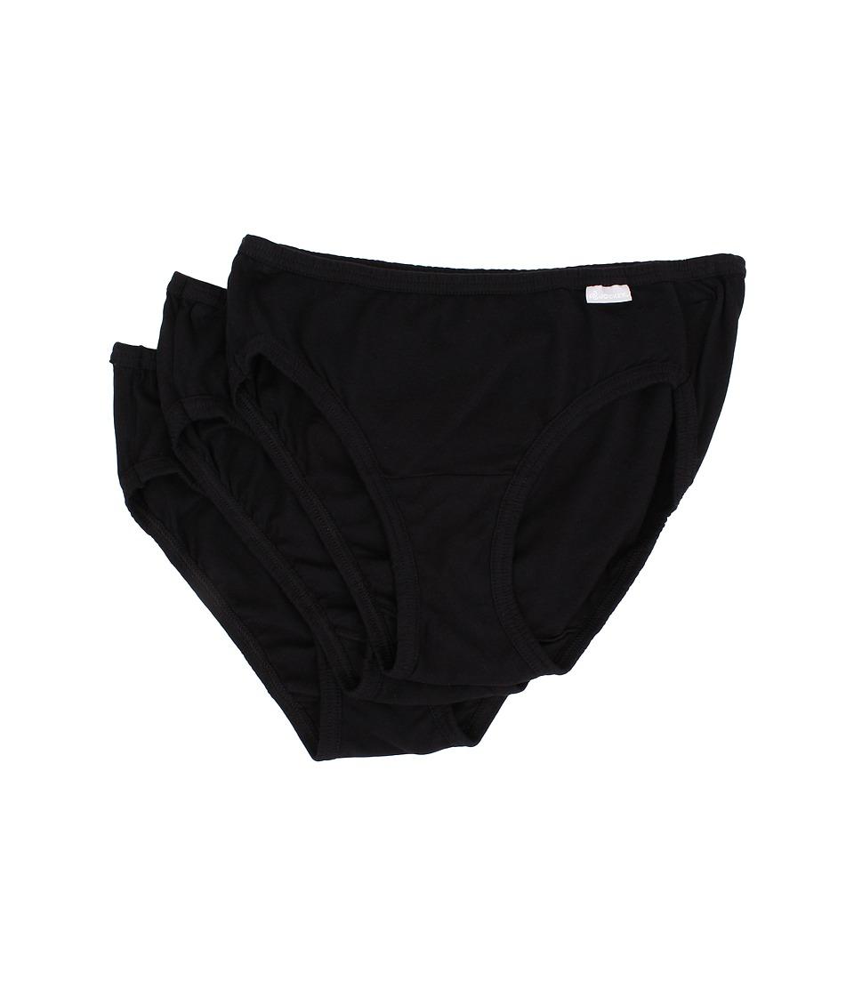 Jockey Elance Bikini 3 Pack Black/Black/Black Womens Underwear