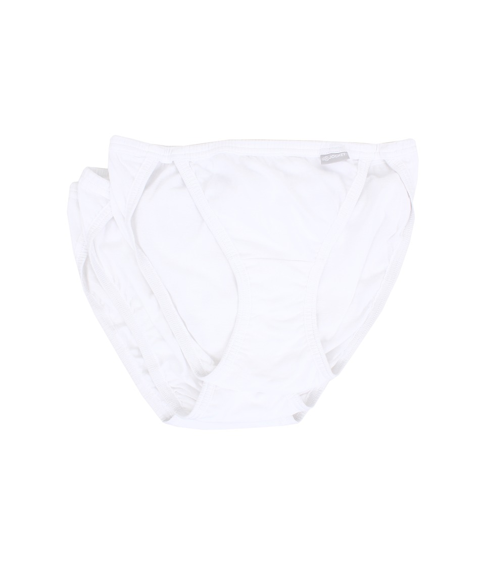 Jockey Elance String Bikini 3 Pack White/White/White Womens Underwear