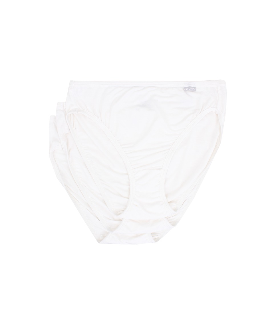 Jockey Elance Supersoft French Cut 3 Pack White/White/White Womens Underwear