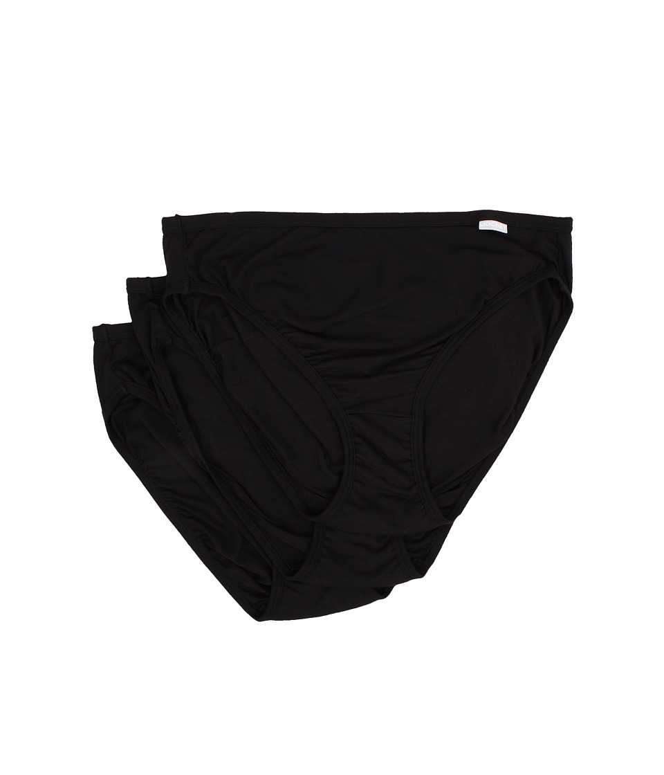 Jockey Elance Supersoft French Cut 3 Pack Black/Black/Black Womens Underwear