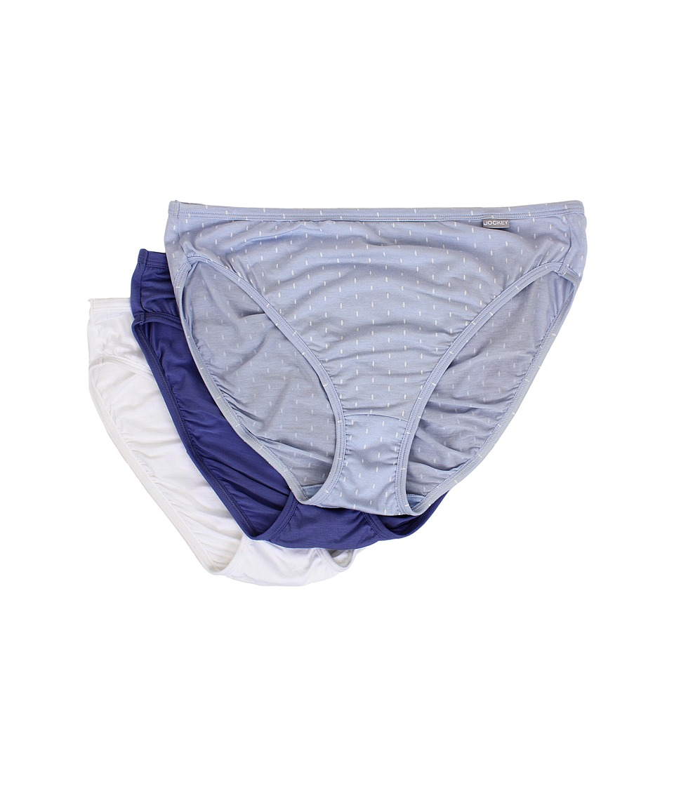 Jockey Elance Supersoft French Cut 3 Pack Oblong Dot/Blue Orion/White Womens Underwear