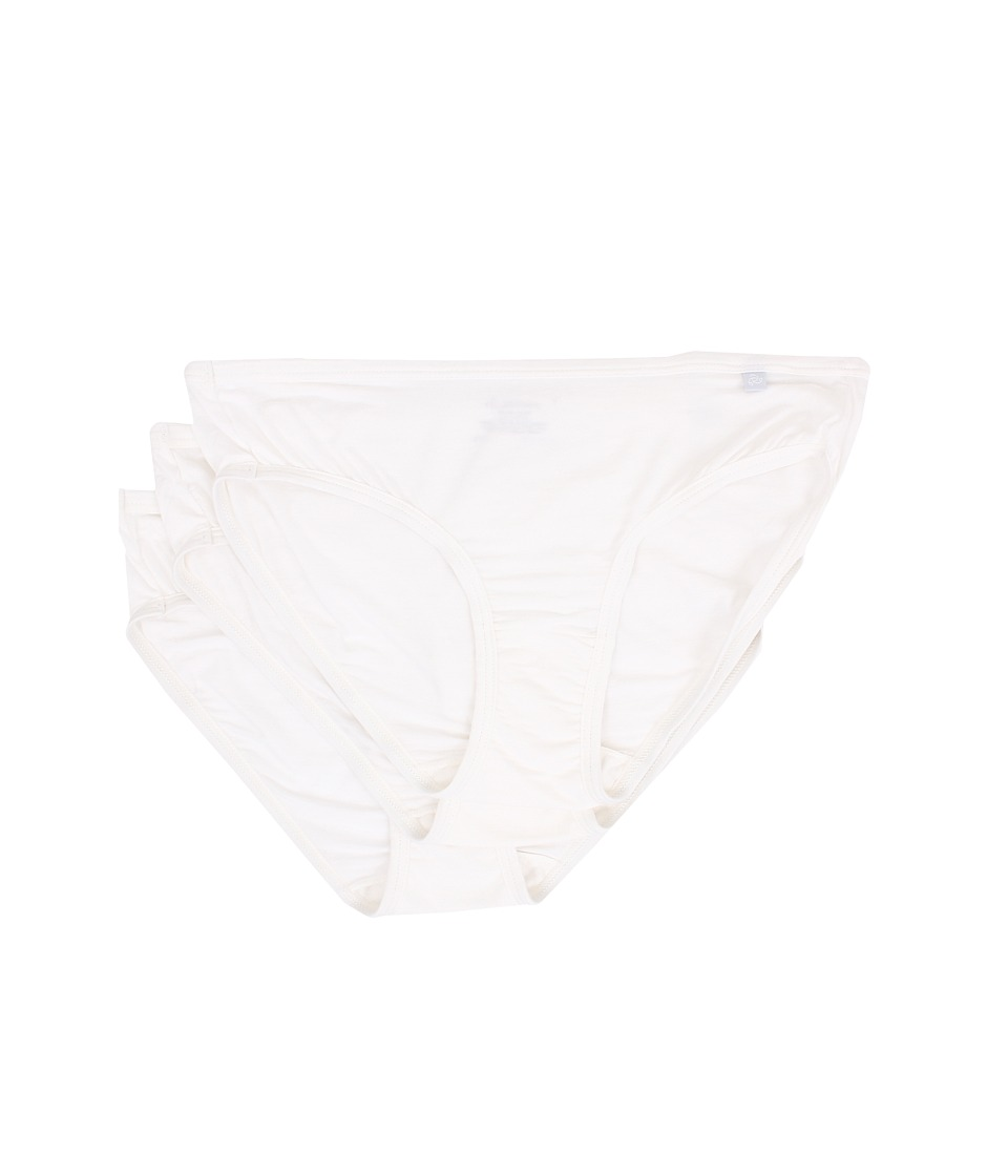 Jockey Elance Supersoft Bikini 3 Pack White/White/White Womens Underwear