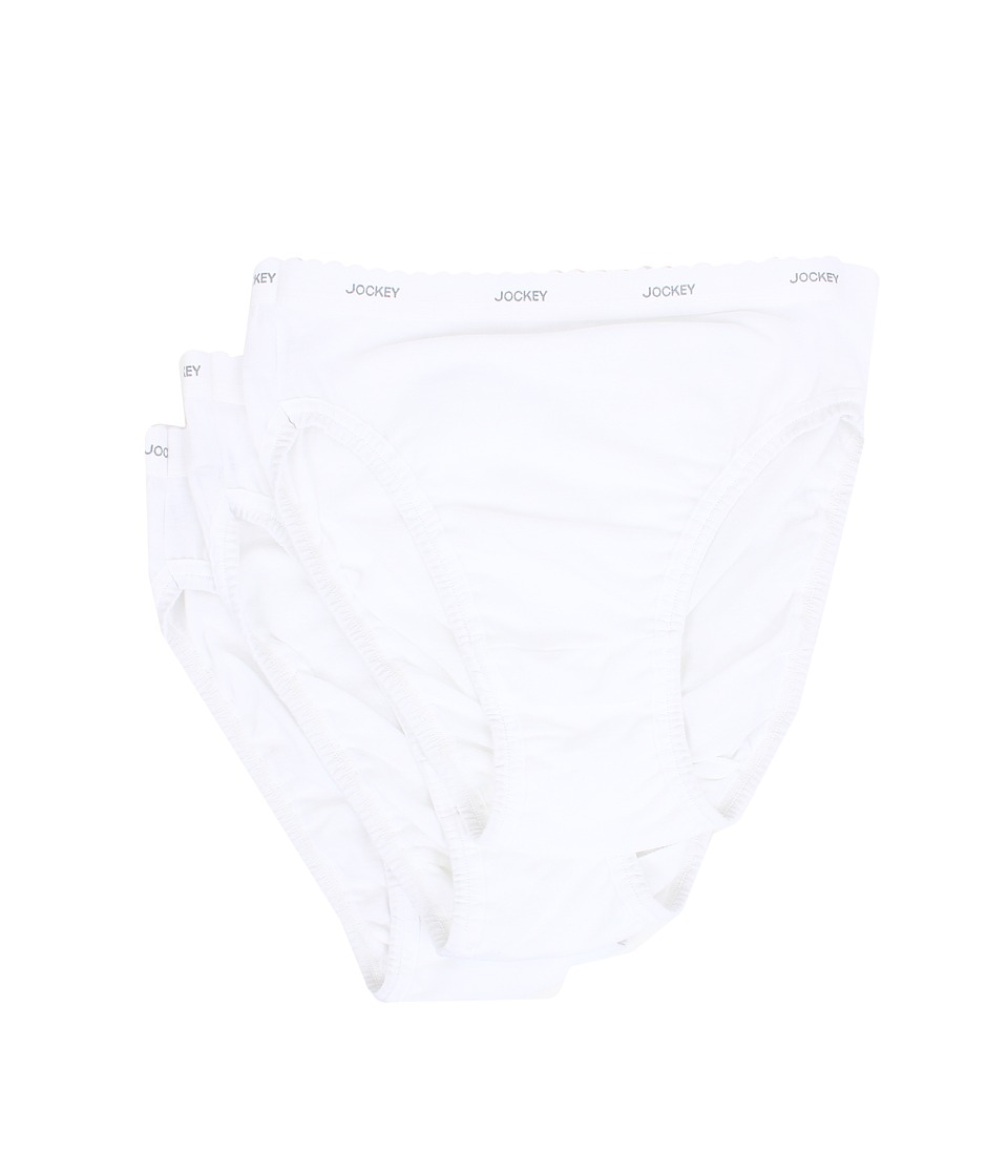 Jockey Classics French Cut 3 Pack White/White/White Womens Underwear