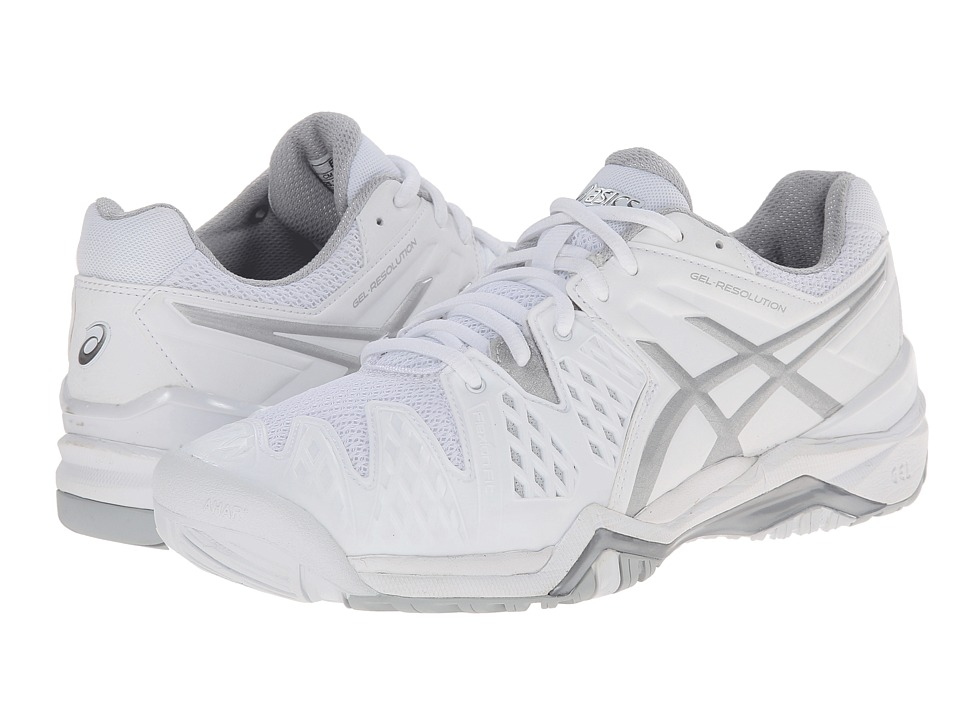 ASICS - GEL-Resolution 6 (White/Silver) Women