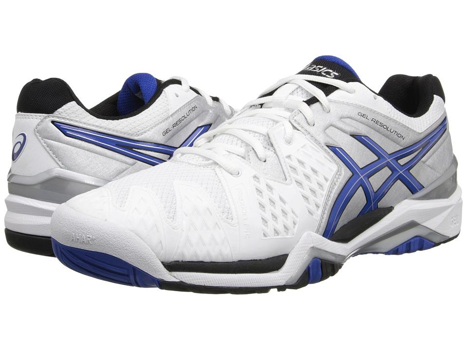 ASICS - GEL-Resolution 6 (White/Blue/Silver) Men