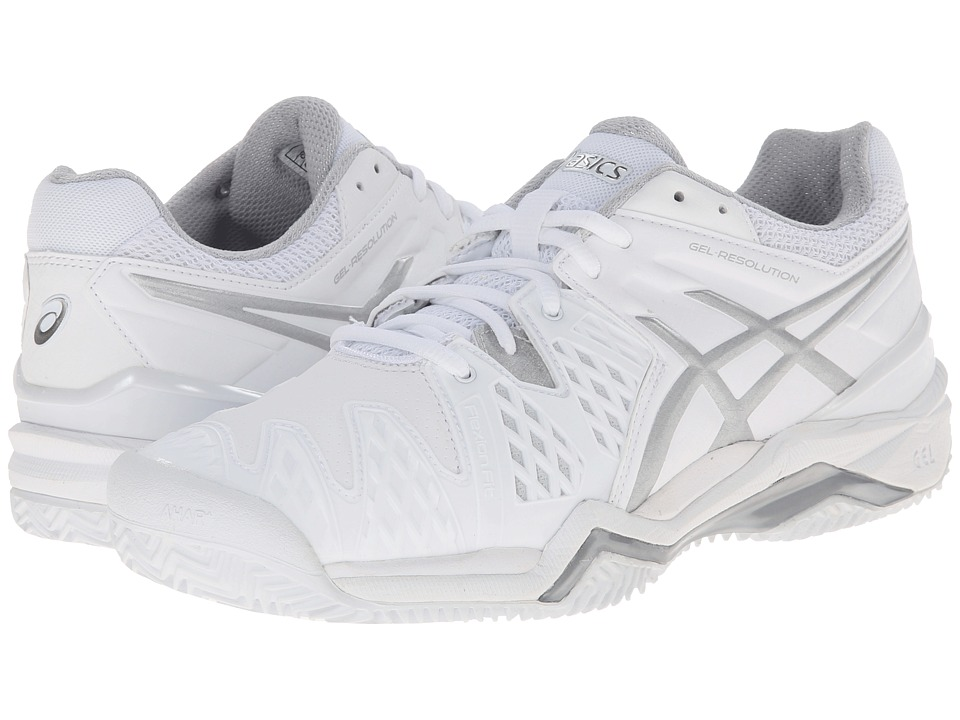 ASICS - GEL-Resolution 6 Clay Court (White/Silver) Women