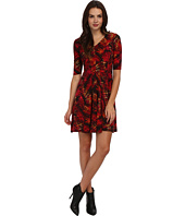 Christin Michaels - Cardinal Printed Dress