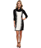 Christin Michaels - Bailey Static Stripe Dress