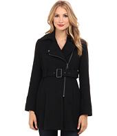 6PM:Kenneth Cole,女款时尚不对称编织风格羊毛大衣 原价$295 现价$61.99
