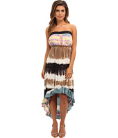 Angie - Tie-Dye Print Maxi Tube Dress