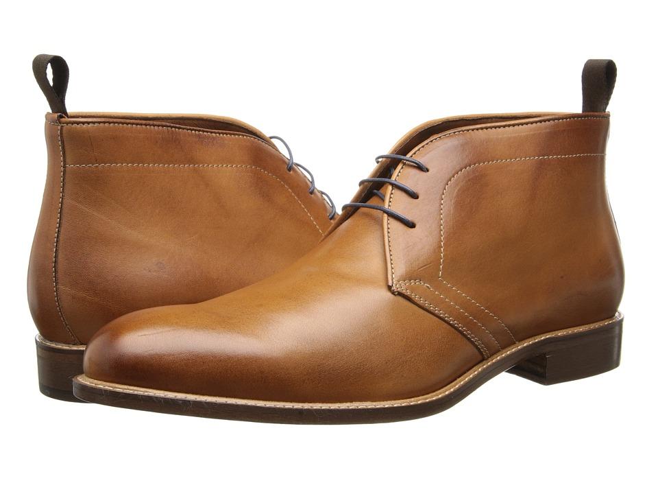 Massimo Matteo 3 Eye Chukka Brandy Mens Lace up Boots