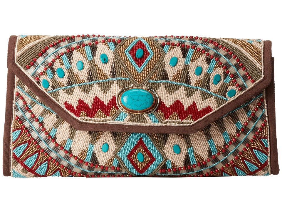 Mary Frances - Turquoise Power (Multi) Clutch Handbags
