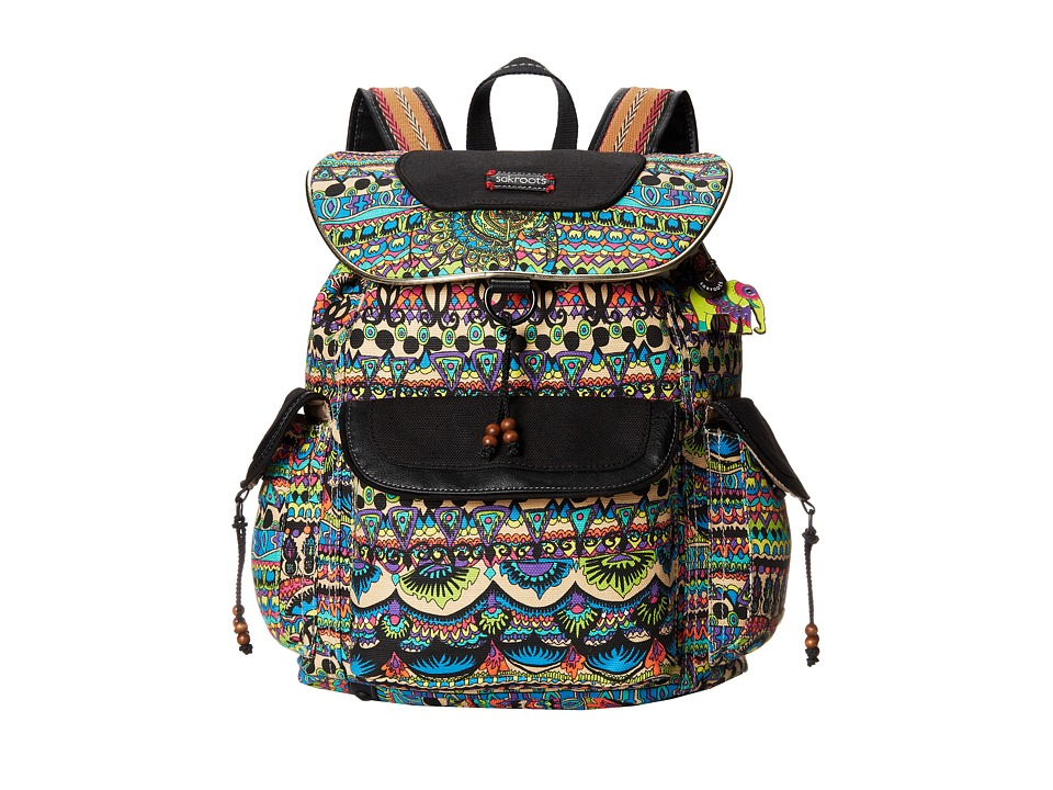 Sakroots - Sakroots Artist Circle Flap Backpack (Radiant One World) Backpack Bags
