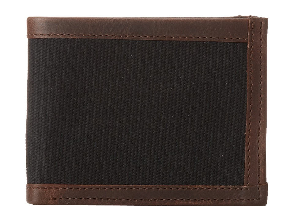 Will Leather Goods - Ethan Billfold (Black/Brown) Bill-fold Wallet