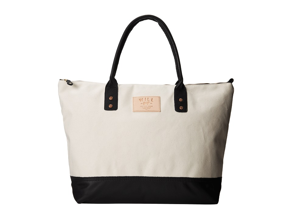 Will Leather Goods Getaway Tote Canvas Natural/Black Luggage