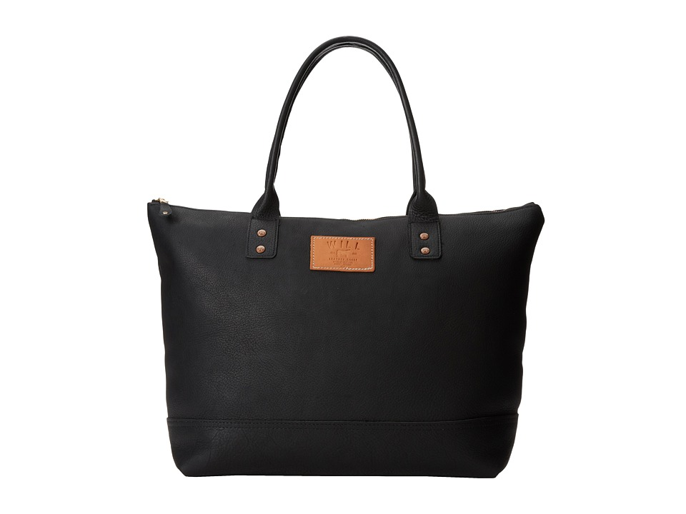 Will Leather Goods - Getaway Tote All Leather (Black) Luggage