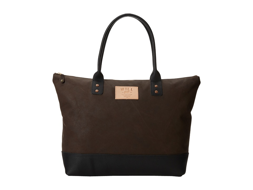 Will Leather Goods - Getaway Tote All Leather (Brown/Black) Luggage